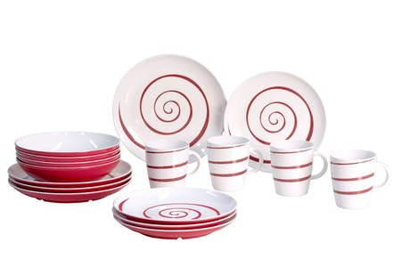 Gimex Classic Line Twist Red Tableware Set