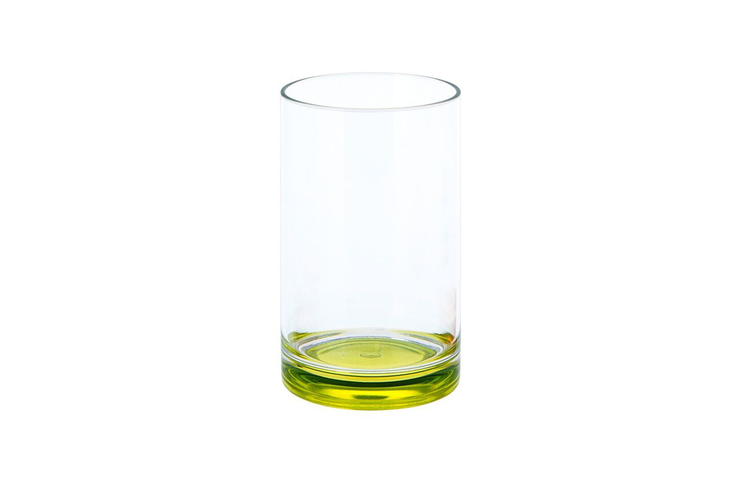 Gimex Drinking Glass with Green Bottom Side