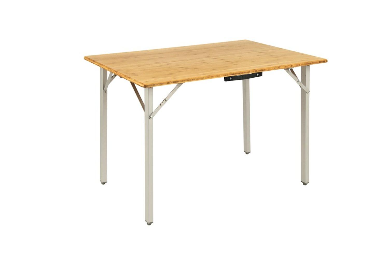 Die leichte, aber strapazierfähige Bambustischplatte liegt bei Kamloops auf einem Aluminiumrahmen