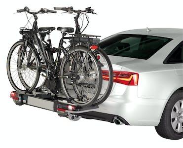 Ermöglicht die sichere Befestigung von bis zu zwei Fahrrädern am Auto oder VW-Bus..