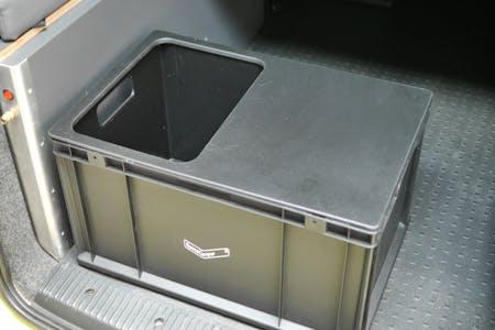 Deckel groß für Eurobox mit Einlass für Spülbecken