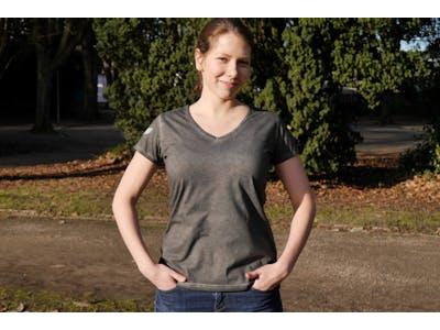 T-shirt Spacecamper Grau für Frauen