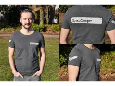 T-shirt Spacecamper Grey Blue