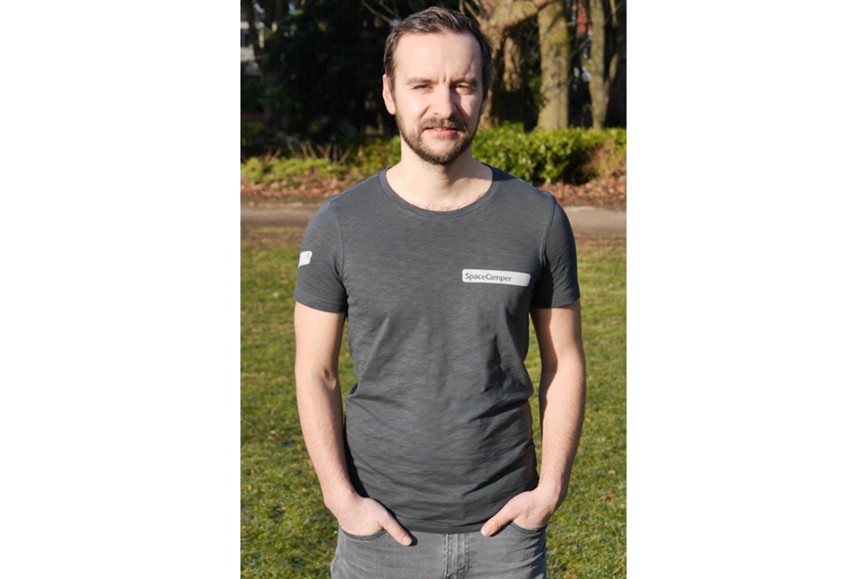 T-shirt Spacecamper Graublau