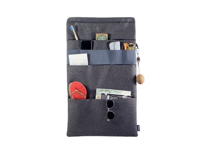 Vanluv STASH IT! Big Organizer Dark Grey - Blue