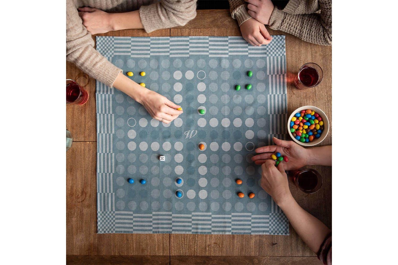 Werde kreativ bei der Auswahl deiner Spielsteine.
